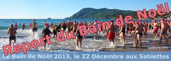 Report du Bain de Noël aux Sablettes
