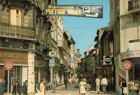 Piétonnisation du Centre-Ville de Valence en 1979