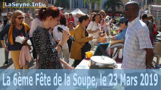 Retour en Images: La 6ème Fête de la Soupe, du 23 Mars 2019 sur la Place Martel-Esprit au Centre-Ville de La Seyne