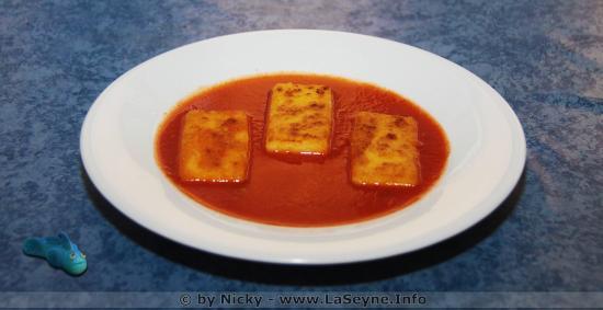 La Polenta avec la Sauce Tomate de Mémé