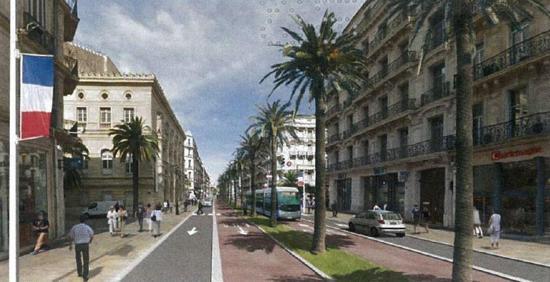 projet de bus à haut niveau de service (à Toulon)