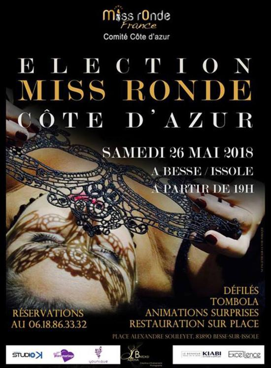 Election Miss Ronde Côte d'Azur 2018