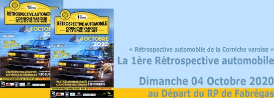 1ère Rétrospective Automobile de la Corniche varoise, le Dimanche 04/10/2020
