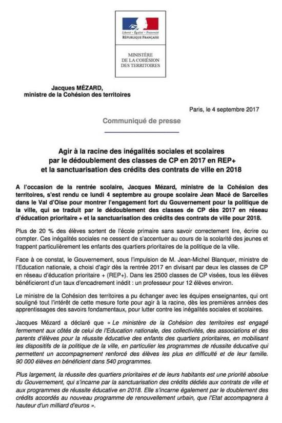 Sanctuarisation Contrats de Ville 07-09-2017