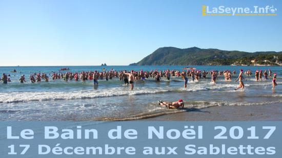 Le Bain de Noël 2017 de La Seyne sur Mer, Dimanche 17 Décembre aux Sablettes