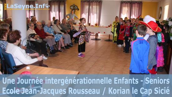 l'Ecole Jean-Jacques Rousseau de La Seyne chez Korian le Cap Sicié