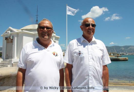Pierre LAURENT, président de la Société Nautique des Mouissèques & Henri Bressan, président du Club nautique seynois