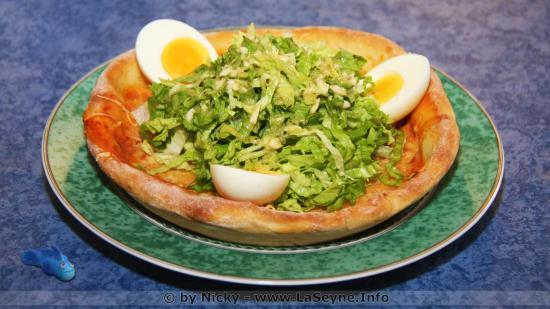 Une Assiette Pizza-Salade