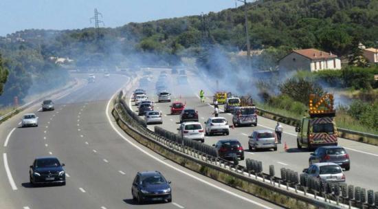 Départ de feu à Ollioules: Trafic perturbé sur l'A50 entre Toulon et Marseille ...