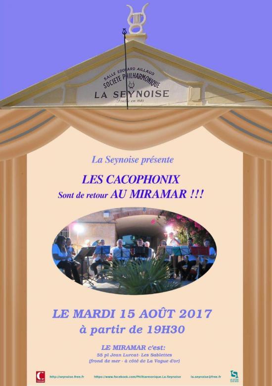 Philharmonique La Seynoise - 15 aout 2017: Cacophonix au Miramar