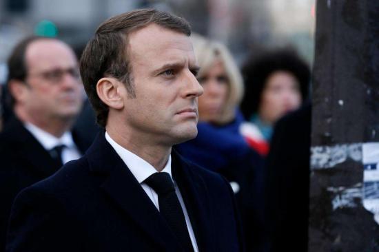 C'est la première fois que le chef de l'Etat se déplace dans le Var depuis son élection. AFP