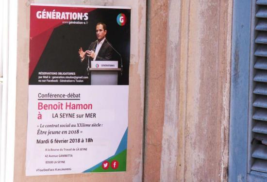 Conférence-débat avec Benoît Hamon le 6 février 2018 à La Seyne sur Mer