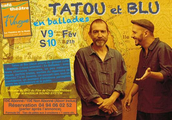 TATOU & BLU 2 des Massilia Sound System à la 7ème Vague V9 & S10/02/18