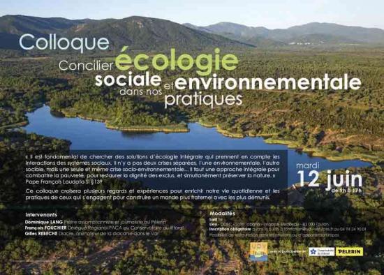 Inscrivez-vous au colloque sur l'écologie : mardi 12 juin à Toulon