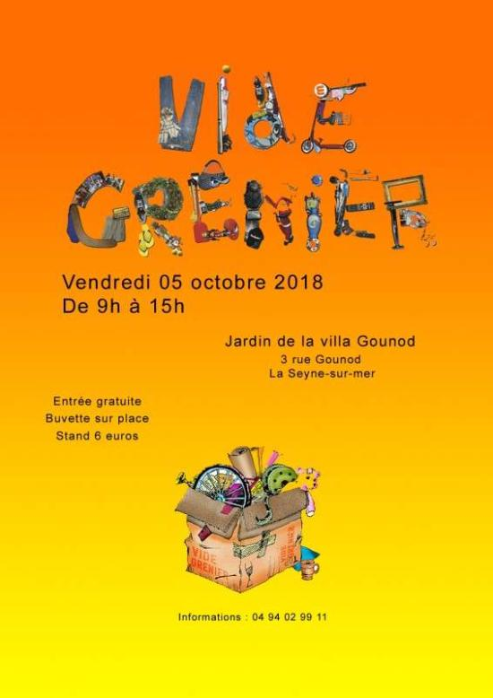 Vide-Greniers de l'Association cap d'Azur, le Vendredi 05/10/2018