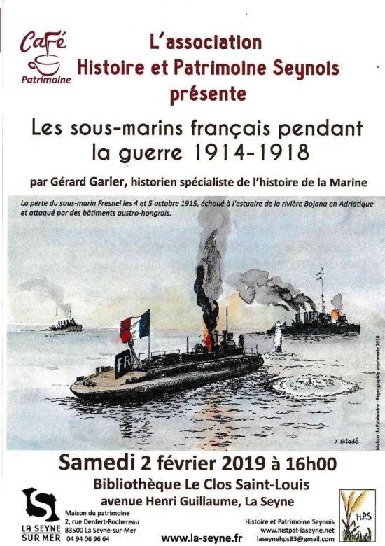 Conférence: les sous-marins français pendant la première guerre