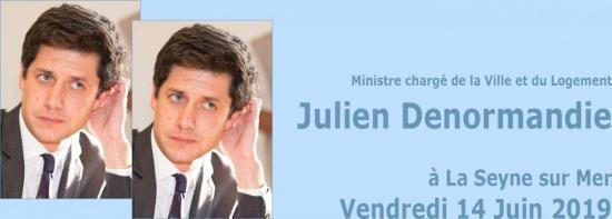 Ministre chargé de la Ville et du Logement, à la Seyne sur Mer, le 14 Juin 2019