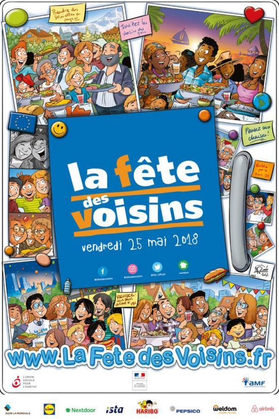 Fête des Voisins 2018 ... Remise des Kits, Mardi 15 Mai à 17h30 à La Seyne