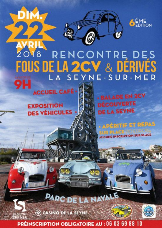 6ème Rencontre des Fous de la 2CV, le 22/04/2018 à La Seyne sur Mer