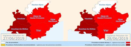 Vigilance Pollution Air: Alerte Niveau 1 pour le 27 et 28 Juin 2019 à La Seyne