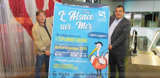 Alsace sur Mer 2019, les 08, 09, 10 et 11 Novembre sur l'Esplanade Marine