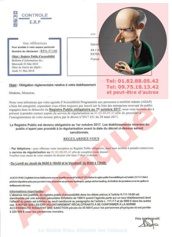 Commerçants et Associations: Attention ! Arnaque de pseudo Contrôle de Régularisation