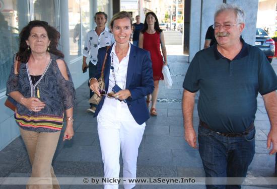 Astrid Jeffrault, Sous-Préfète du Var, en Visite du Centre-Ville de La Seyne