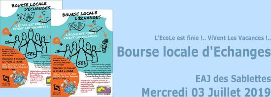 Une Bourse locale d'Echanges, le 03 Juillet 2019 aux Sablettes