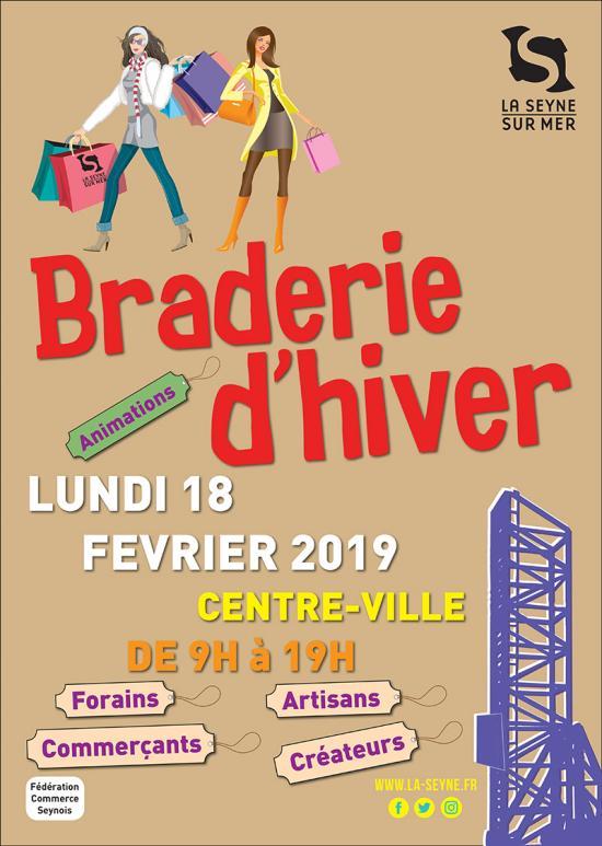 La Braderie d'Hiver 2019, le Lundi 18 Février au Centre-Ville Seynois