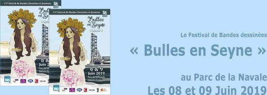 Festival de Bandes dessinées: « Bulles en Seyne 2019 », les 08 et 09 Juin