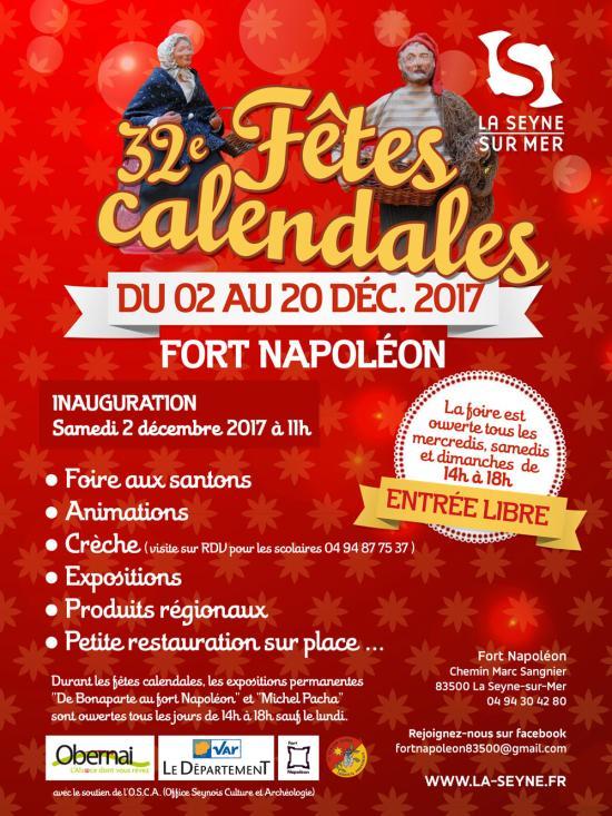 Les « Fêtes calendales 2017 » du 02 au 20 Décembre à La Seyne