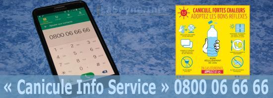« Canicule Info Service » 0800 06 66 66: Activation de la Plate-Forme téléphonique