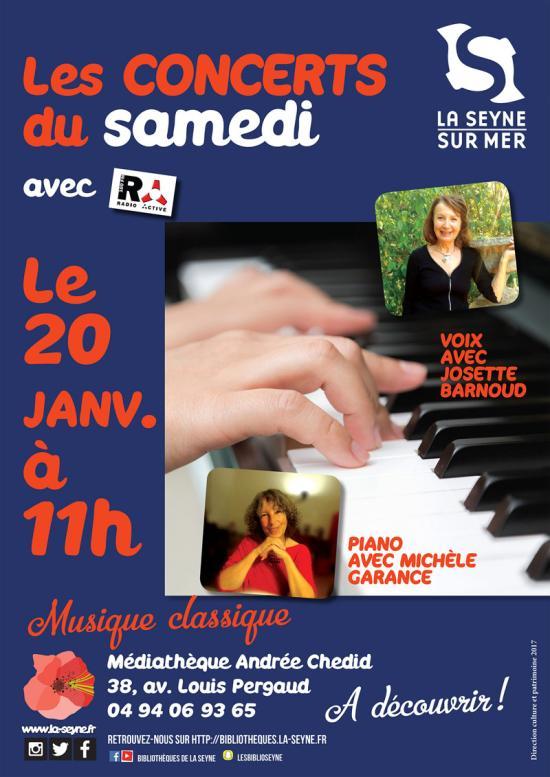 Concert Piano-Voix: Josette Barnoud et Michèle Garance live sur Seyne