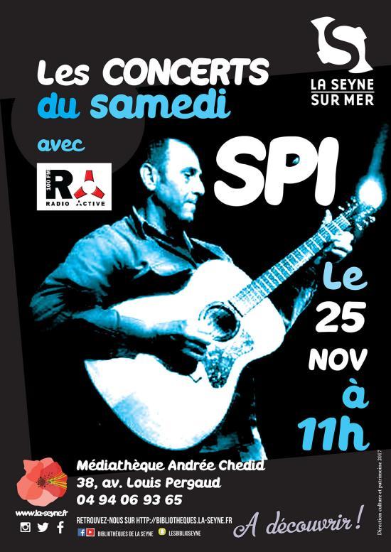 Spi live sur Seyne, le 25/11/2017 à la Médiathèque Andrée-Chedid