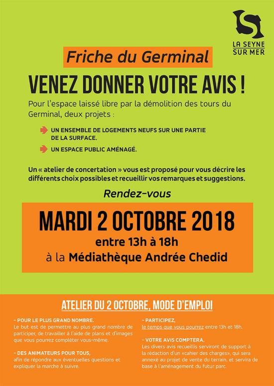Atelier de Concertation sur la Friche du Germinal à Berthe, le 02 Octobre 2018