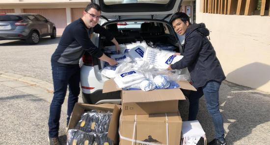 Deux jeunes Seynois ont financé et récupéré du Matériel de Protection pour les Hôpitaux