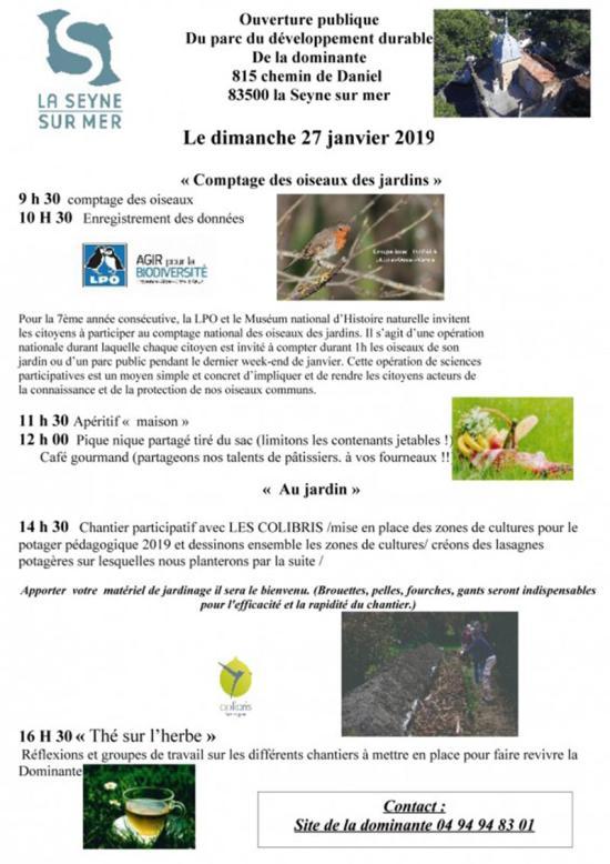 Une Journée champêtre à la Dominante, le Dimanche 27/01/2019