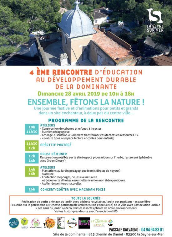La 4ème Rencontre d'Education au Développement durable de la Dominante, le Dimanche 28 Avril 2019