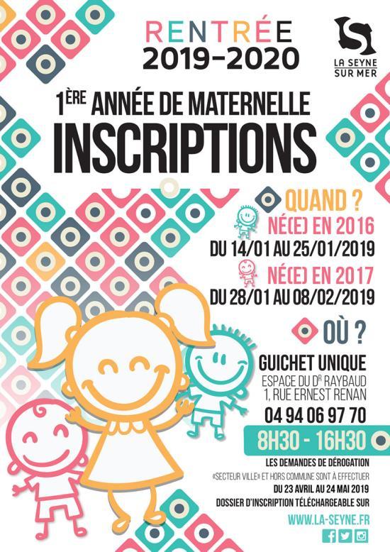 Rentrée Seynoise 2019-2020: Inscriptions des Maternelles