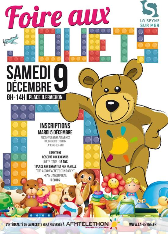 Foire aux Jouets, le 09/12/2017 à La Seyne sur Mer - Inscriptions