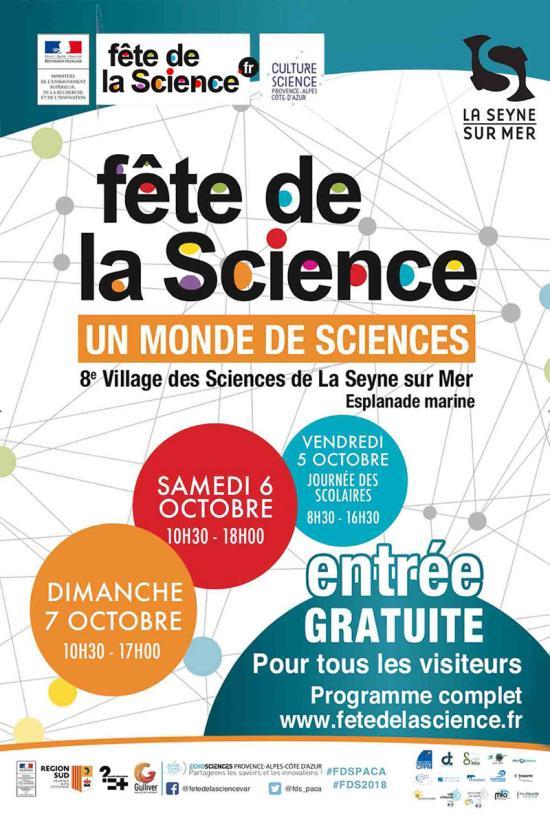 La Fête de la Science 2018 « Un Monde de Sciences » les 06 et 07/10/2018