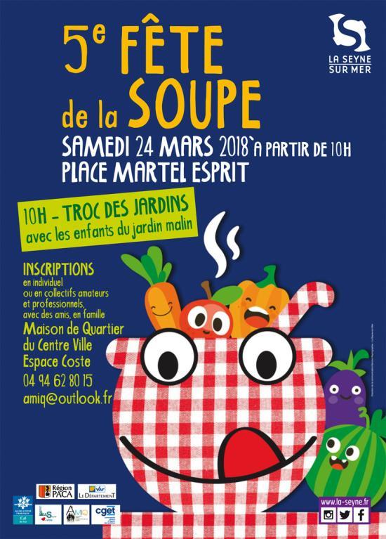 5ème Fête de la Soupe à La Seyne sur Mer le 24 Mars 2018