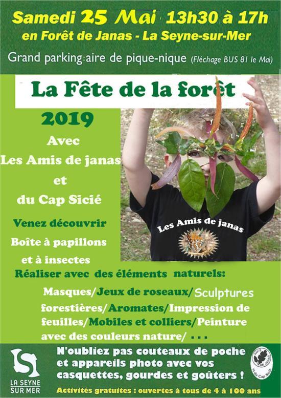 La Fête de la Forêt des Amis de Janas et du Cap Sicié, le 25 Mai 2019