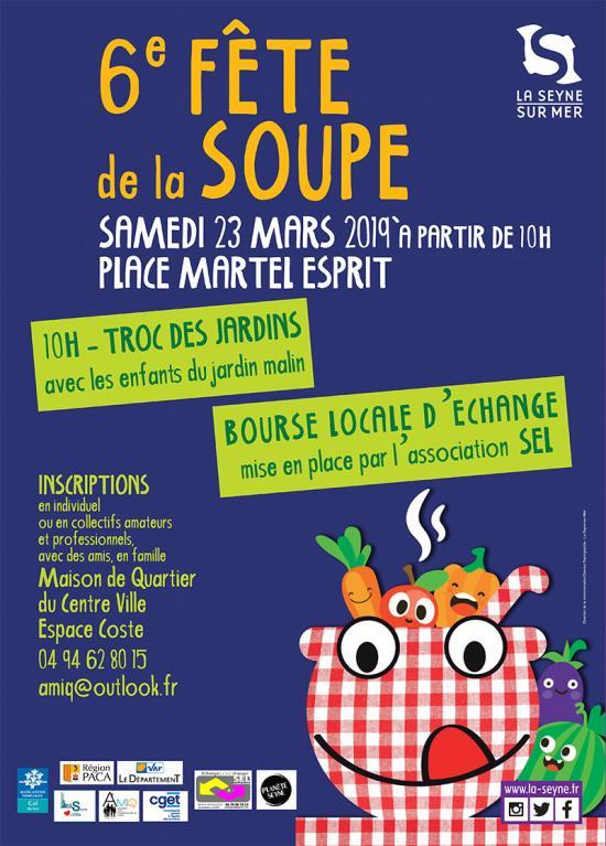 La 6ème Fête de la Soupe, le Samedi 23 Mars 2019