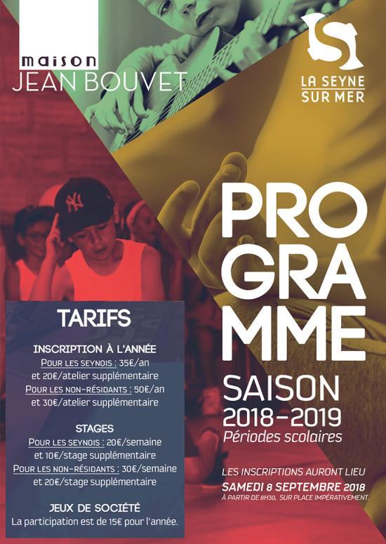 Maison Jean Bouvet: Inscriptions 2018, Samedi 08 Septembre à partir de 08h30
