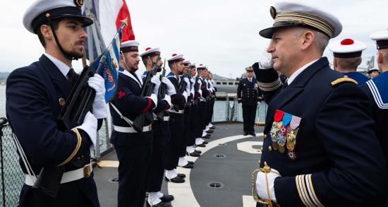 Le Capitaine de Vaisseau Guillaume Fontarensky, nouveau Commandant pour la Frégate antiaérienne Jean Bart