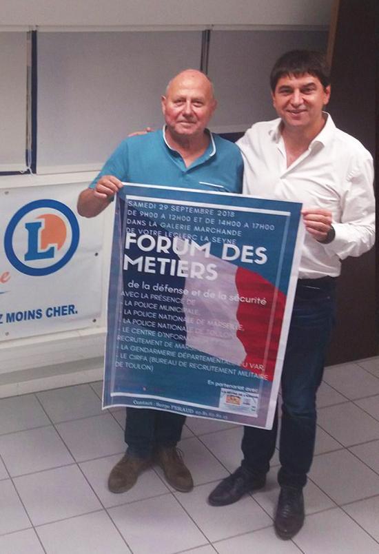 Un Forum des Métiers de la Défense, le 29 Septembre 2018 au Leclerc du Quartier Léry à La Seyne
