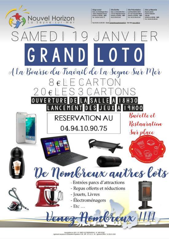 Grand Loto annuel de l'Association Nouvel Horizon, le 19/01/2019