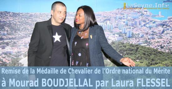 la Médaille de Chevalier de l'Ordre national du Mérite à Mourad BOUDJELLAL par Laura FLESSEL - samedi 28 avril 2018