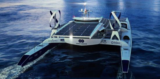 Le Catamaran autonome Energy Observer arrive à La Seyne sur Mer du 18 au 26/11/2017